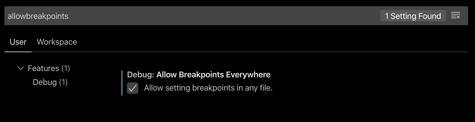Allow Breakpints Everywhere