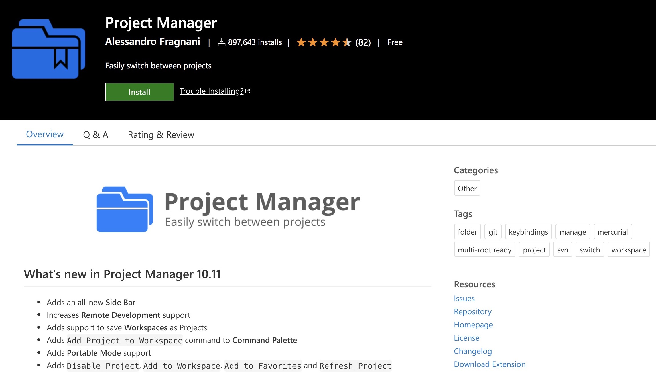 Plugins: Project Manager