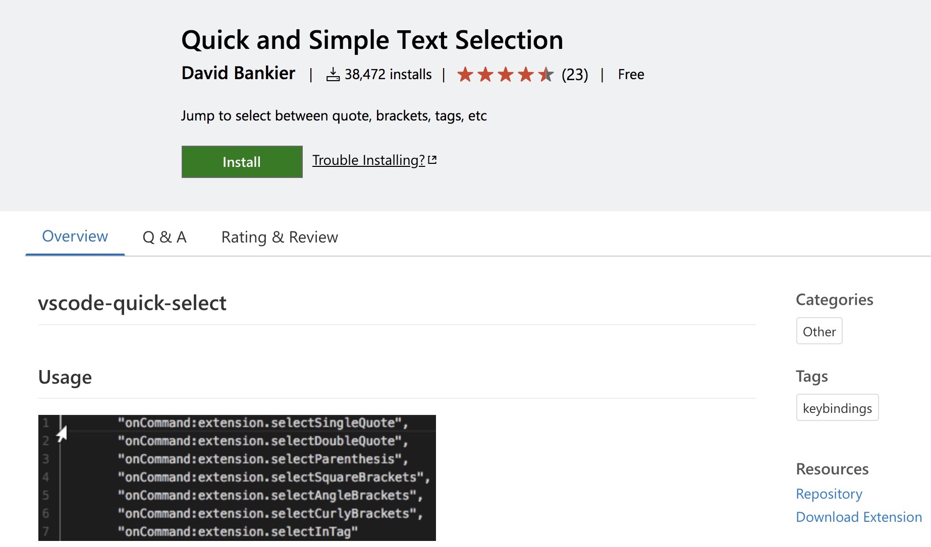 Plugins: Quick and Simple Text Selection